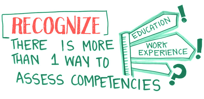 Recognize: There is more than one way to assess competencies